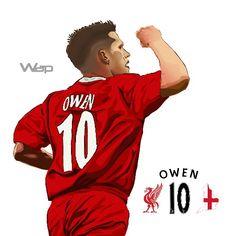 Michael Owen #10 Liverpool Legend