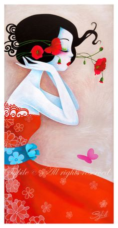 Sweet poppy sybile art