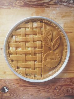 Lattice + message imprint pie crust inspiration.