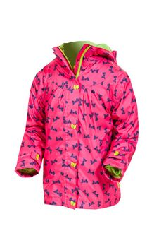 Target Dry Girls Heidi Jacket - fandango Bow Print Girls Waterproof Summer Jacket Dress your little girl up in something that will keep her smiling