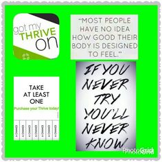 Take a chance and get your body feeling better than ever with Thrive! Https:// rconnerley.le-vel.com