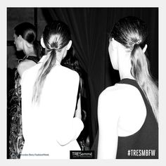 #backstage  #ponytail by #TRESemmé #MBFW