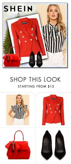 """""""Shein"""" by nejra-l ❤ liked on Polyvore featuring Balmain and Maison Margiela"""