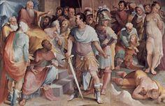 Uccisione di Spurio Melio (1529-1535; Siena, Palazzo Pubblico, Sala del Concistoro)