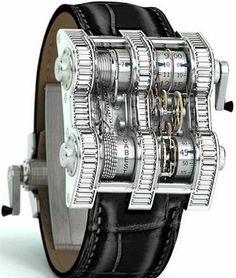 Cabestan Winch Tourbillion Watch has a chain drive