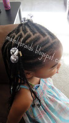 mainly braids: cornrow & braid styles.  I like the center part