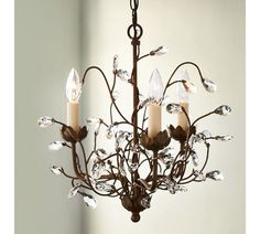 Camilla Chandelier, 3-Arm, Aged Brass finish from Pottery Barn.