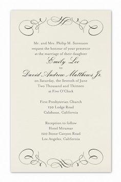 Formal Wedding Invitation Wording Etiquette Parte Two Formal