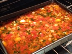 Gigantes Plaki/Baked Giant Beans from the Greek Vegan. A substitute for the bean… Gigantes Plaki/Baked Giant Beans from the Greek Vegan. A substitute for the bean… – Carla Costantini Natsopoulos – Giant Lima Beans Recipe, Lima Bean Soup, Lima Bean Recipes, Macedonian Food, Greek Dishes, Main Dishes, Finding Vegan, Greek Cooking, Delicious Vegan Recipes