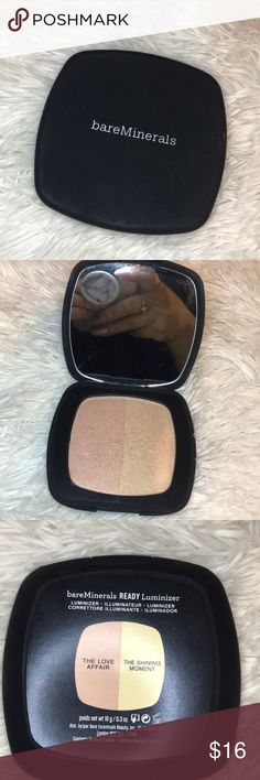 Bare minerals highlighting powder Bare minerals highlighting powder in color the love affair and the shinning moment.  Used only once. Sanitized. Bare Escentuals Makeup Luminizer