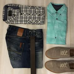 Crisp button-downs with a dark clean denim and TOMS shoes make this and date night ready outfit.