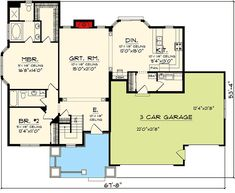 2 Bedroom Craftsman Ranch - 89862AH | 1st Floor Master Suite, CAD Available, Craftsman, Northwest, PDF, Ranch | Architectural Designs