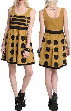 3X NEW DR WHO Cosplay Gold Dalek Punk Baby Doll Flare Tardis Dress Torrid Jewel | eBay