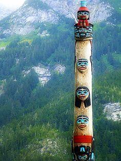 Totem in Haines, Alaska.