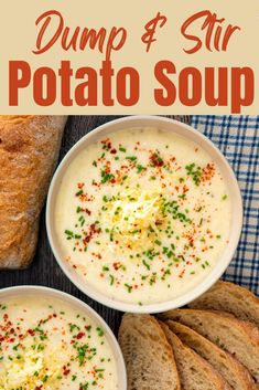 Instant Pot Potato Soup takes the classic recipe to the next level with cozy comforting flavors and a quick prep. Ready in less than a half hour, you can enjoy this comforting soup just about any night of the week. It also makes a perfect make ahead meal so you can send it with your family as an easy lunch option that will fuel them through their busy days. Homemade Potato Soup, How To Make Potatoes, Vegan Sour Cream, Superfood Recipes, Bread Bowls, Cooking For Two, Make Ahead Meals, Soup Recipes, Sweets Recipes