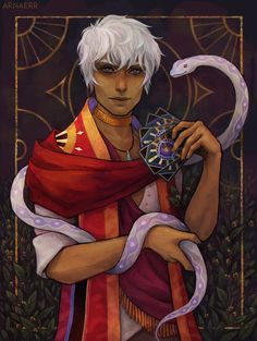 """arnaerr: """"Asra from @thearcanagame Love him and this game so much help me :^) """""""