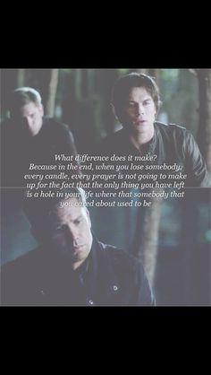 One of the many beautiful scenes on TVD