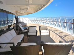 The Disney Fantasy and Dream's Royal Suites have amazing verandahs with a jacuzzi and ocean views - Wow.