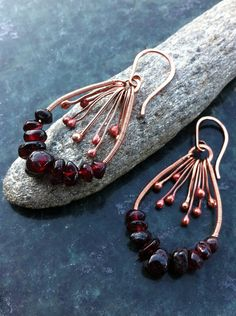 omg Copper and Garnet my two most favorite jewelry components!!!  i love red!!!