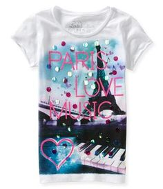 Kids' Paris Love Music Graphic T - PS From Aeropostale