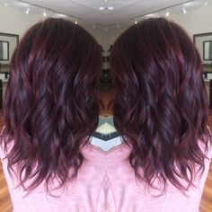 Violet hair.  Beautiful 5/66 color touch by Wella.