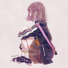 #, Anime School Girl, Cool Anime Girl, Pretty Anime Girl, Kawaii Anime Girl, Anime Art Girl, Manga Girl, Manga Anime, Cute Little Drawings, Gothic Anime