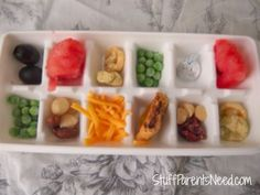 How We Make Snack Time Fun: DIY Ideas: Nibble Tray for Toddlers