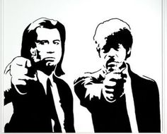 Sticker para pared Pulp Fiction
