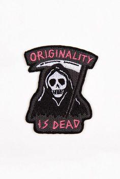 Originality is Dead Patch, feat. the Grim Reaper. Black, like my heart.