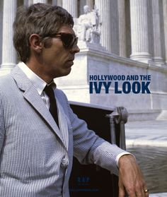"hollywoodandtheivylook: "" James Coburn in his impecable seersucker suite and Persol sunglasses is featured in the new Coffee Table Book: Hollywood and The Ivy Look. Published by Reel Art Press "" Sixties Fashion, Mod Fashion, Ivy Style, Cool Style, New Wave Cinema, Seersucker Jacket, Ivy Look, Ivy League Style, Preppy Mens Fashion"
