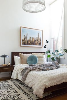 Zzzzzzzzz! The Pinwheel Cushion and Desert Cactus Print are our must-have style steals from Jess at Eclectic Creative's bedroom. Sleep easy with a bedroom from freedom!