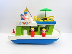 Fisher Price Houseboat Boat With Accessories by TimelessToyBox