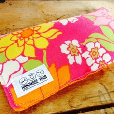Spring has sprung! Bright new eye pillows at YogaHandmade.com or Handmade Yoga on Etsy...
