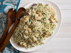 Two classic dishes—Italian-style seafood salad and refreshing pasta salad— collide in this perfect summer dish, bright with lemon and olive oil. The secret is in the selection of pasta: Asian rice noodles deliver the perfect texture and flavor-absorbing powers to make every bite taste like pure seafood-salad bliss.