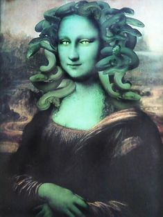 Bd Pop Art, Mona Friends, Medusa Costume, Medusa Gorgon, La Madone, Mona Lisa Parody, Mona Lisa Smile, Italian Artist, Cultura Pop
