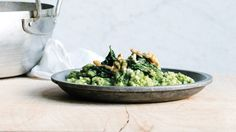 Oven Risotto with Kale Pesto Recipe | Bon Appetit