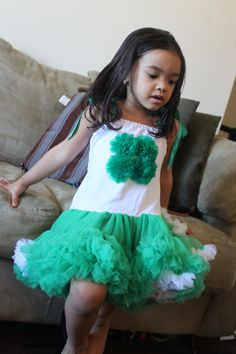 St patty's day pettiskirt dress!     Link to my site coming soon!