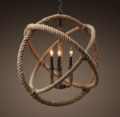 DIY knock off restoration hardware rope light.tutorial is made from hula hoops, rope, duct tape, hanging chandelier. Inexpensive Home Decor, Diy Home Decor, Luminaria Diy, Orb Chandelier, Driftwood Chandelier, Pendant Lights, Hula Hoop Chandelier, Entryway Chandelier, Chandelier Ideas