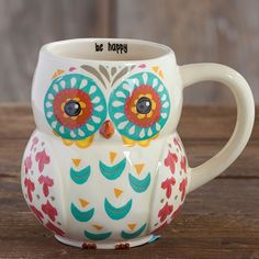 Be Happy Owl Mug