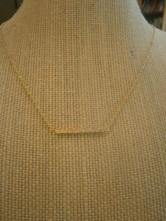 18K Gold-Plated Hammered Bar Choker Necklace; Gold Necklace; Gold Choker
