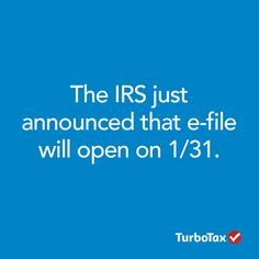 The IRS today announced that it will begin processing tax returns on 1/31! are you ready for #taxes #turbotax #2014