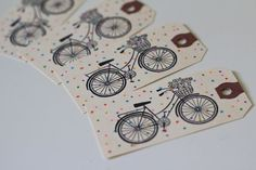 Bicycle Gift Tags, $3.25