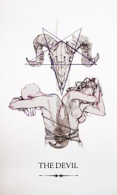 The Devil- Linestrider tarot // causa de conflictos y deseo, fuente de dificultades y desamor