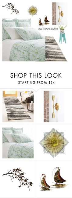 """""""MCM Bedroom"""" by archsan ❤ liked on Polyvore featuring interior, interiors, interior design, home, home decor, interior decorating, Safavieh, Pine Cone Hill, C. Jeré and bedroom"""