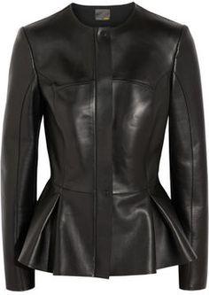 Fendi Peplum leather jacket on shopstyle.com