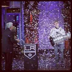 """Dustin Brown shows off the Cup on The Tonight Show"""