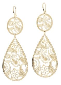 gold plated bronze earrings by Rebecca