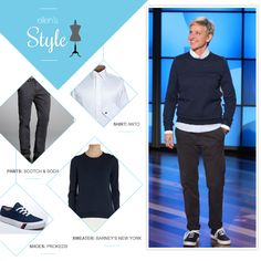 Ellen's Look of the Day: Pants, sweater and Keds
