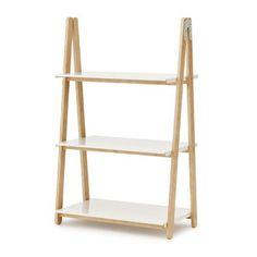 De One Step Up kast heeft een houten frame met daarin stalen planken en is verkrijgbaar in twee maten.   Afmeting:  Small: 78 x 126 x 45 cm (bxhxd)  Large: 78 x 200 x 45 cm(bxhxd)