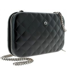 e634d71a5b6f Ogon Quilted Lady Bag Aluminum RFID Blocking Clutch - Black -- You can find  out